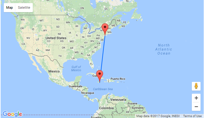 Map Of New York Jamaica.New York To Kingston Jamaica For Only 257