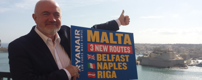 Ryanair launches new routes from Belfast, Riga and Naples to Malta!