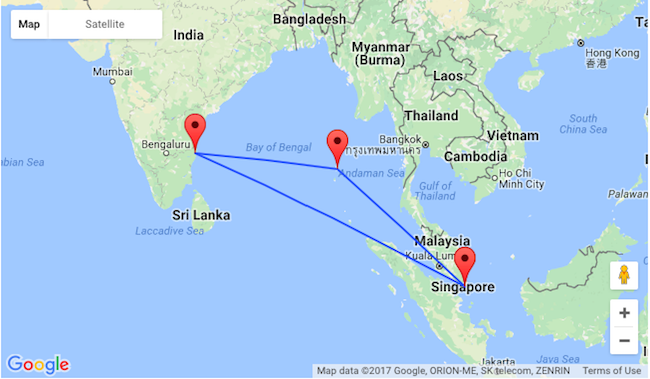 Follow The Links Below And Adjust Travel Dates As These Are Two Separate Bookings If You Just Want To Book Singapore Chennai Or Port Blair