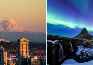 2 in 1 from UK cities: Iceland & Seattle for only £303!