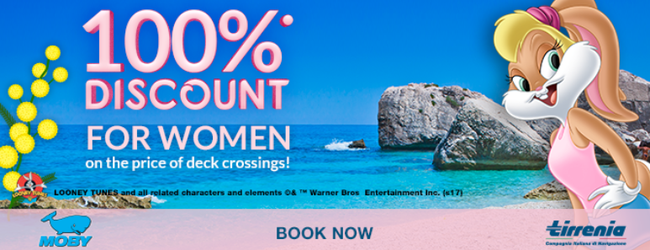 Tirrenia Cruise promo code: get 100% discount, pay taxes only!