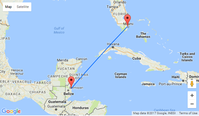 Non-stop from flights from Miami to Belize for only $59 one-way or $175 return!