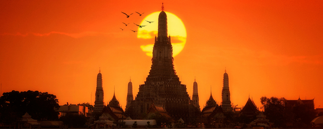 Cheap flights from many European cities to Bangkok, Thailand from only €303!