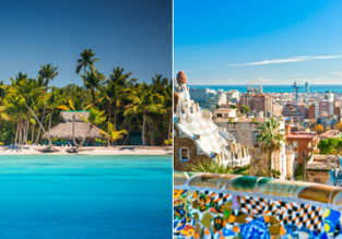 2in1 from Brussels: Dominican Republic and Barcelona in one trip from just €238!