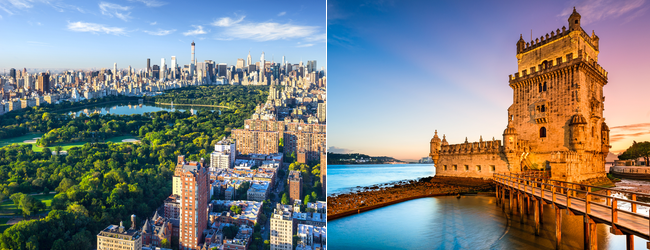 2 in 1: UK to USA or Canada & Portugal from just £216!