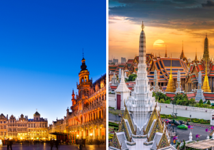 AU cities to Brussels, Belgium from AU$959! Add a stop in Bangkok for AU$158 more!