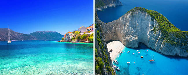 2 in 1: London to Kalamata/ Kefalonia returning from Zakynthos from £49!