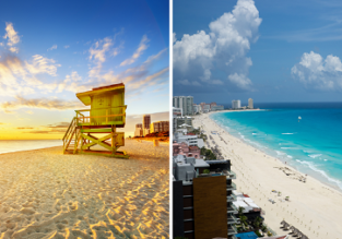 WOW! AU cities to Miami, Florida or Cancun, Mexico from AU$882!