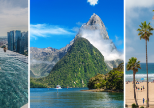 Round The World from Europe! Singapore, New Zealand, Cook Islands & L.A. in one trip from £1095/ €1143!