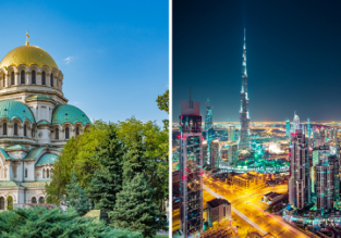 2 in 1: Sofia and Dubai in one trip from London for £82!