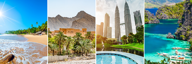 4 in 1: Oman, Sri Lanka, Malaysia and Philippines from Manchester for £454!