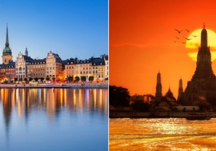 Australia to Stockholm, Sweden from only AU$939! 2 in 1 with Thailand from AU$93 more!