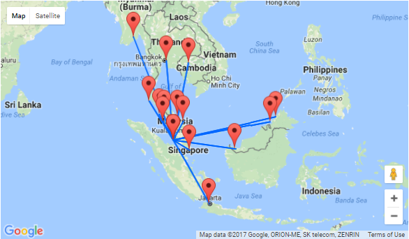 Kuala Lumpur to Borneo, Singapore, Thailand and many more from just ...