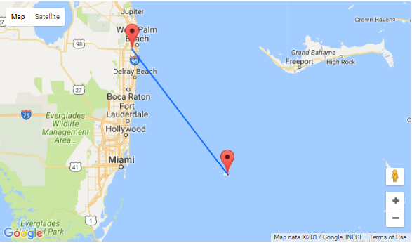 How Far Is West Palm Beach From Jacksonville Florida