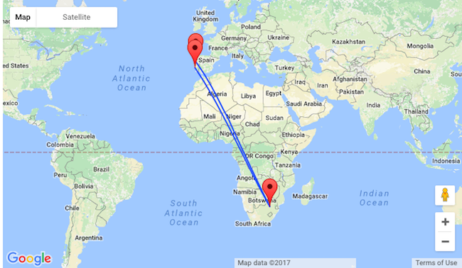 Porto Or Lisbon To South Africa From Only 356