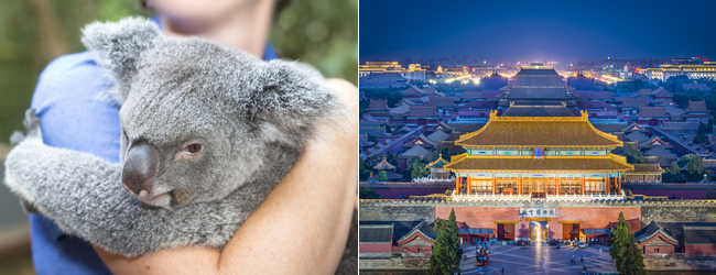 2 in 1: Toronto or Montreal to China & Australia for only C$983!