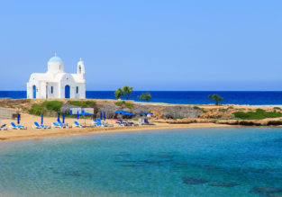 Cyprus package holiday: 7 night half board stay in 4* beach hotel + flights from Germany for €252!