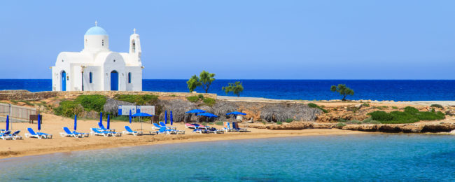 Cyprus package holiday: 7 night half board stay at 4* beach hotel + flights from Germany for €252!