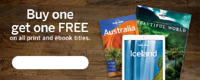 LAST DAY! Lonely Planet SALE: Buy one, get one FREE!