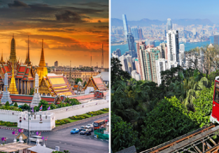 EMIRATES: Non-stop between Hong Kong and Bangkok from only $179!