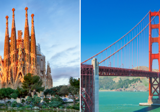 Non-stop from Barcelona to Oakland (San Francisco) and vice versa for only €236/ $339!
