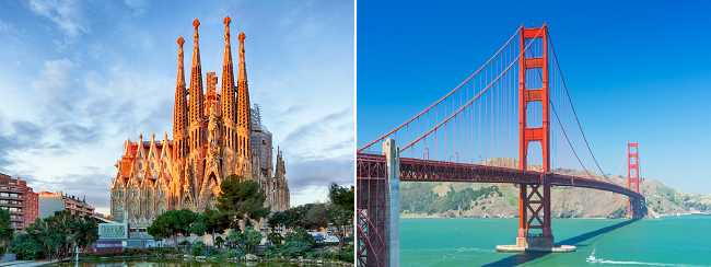 Non-stop from Barcelona to Oakland (San Francisco) and vice versa for only €245/ $349!