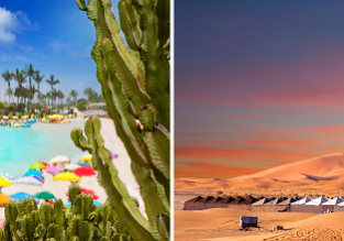 3 in 1: Glasgow to Barcelona, Gran Canaria and Western Sahara in one trip for £91!