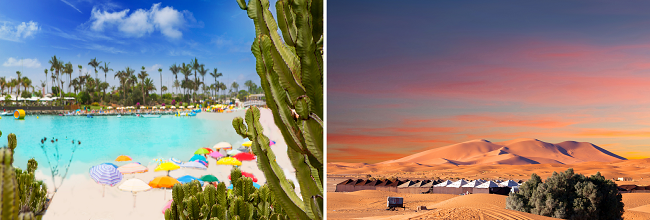 2 in 1: Christmas flights from Hamburg to Gran Canaria & Western Sahara for just €131!!