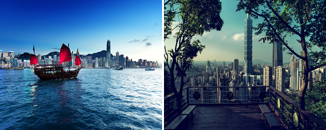 Vancouver to Hong Kong or Taiwan from $391/ C$488! Both in one trip for $437/ C$546!