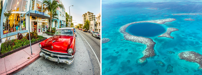 Miami & Belize in one trip from Scotland/ Germany for £433/ €473!