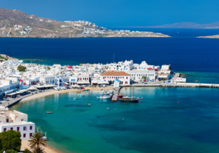 Mykonos escape! 3 nights at top-rated apartment + flights from Frankfurt & airport transfers for €102!