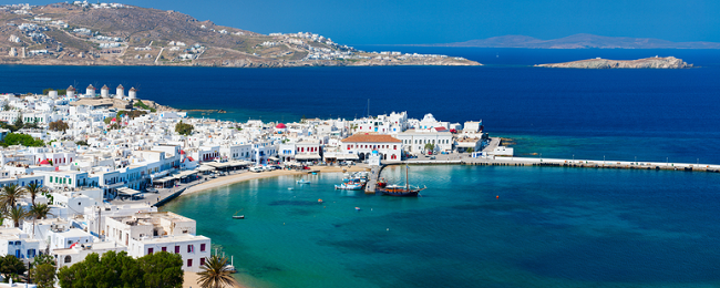 Mykonos escape! 7 nights at top-rated apartment + flights from Frankfurt for €149!