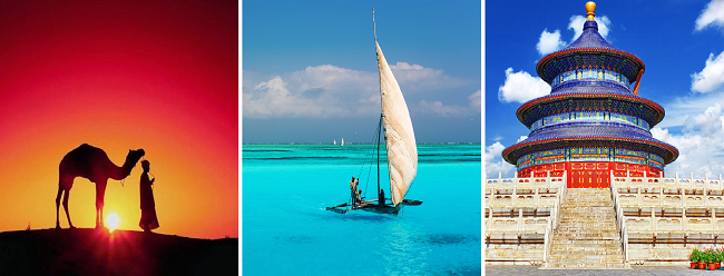 Round-The-World from London for £987! Morocco, Kenya, Zanzibar, China, California & Spain!