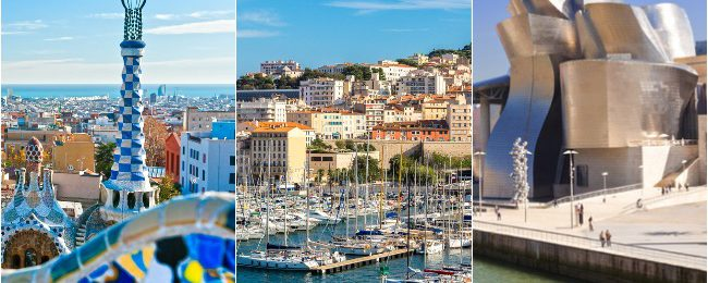 JUNE: Marseille, Barcelona and Bilbao in one trip from London for £75!