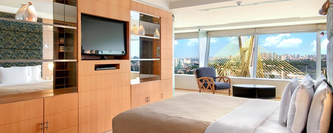 Suite in luxury 5* Hilton Sao Paulo for only €37/ $41 per person!