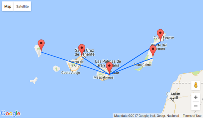 Cheap flights between the Canary Islands from just €10 each way!