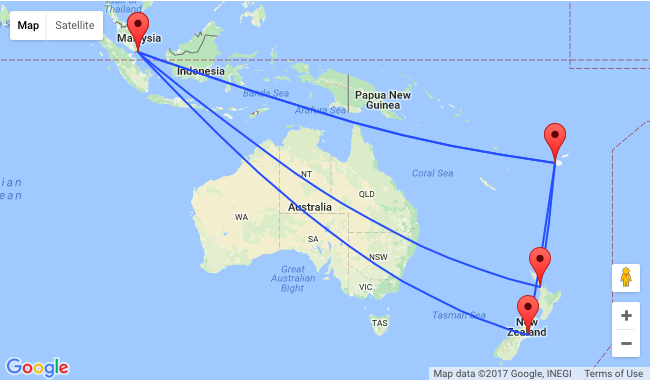 Singapore To Auckland Or Christchurch