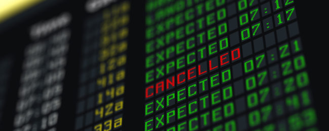 Many flights cancelled due to French air traffic controllers' strike!