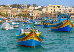 Mediterranean getaway! 7 nights in Malta + cheap flights from Romania for only €90!