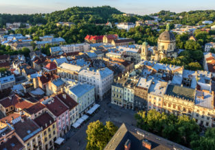Weekend break in beautiful Lviv, Ukraine! Flights from London + 3-night B&B stay in centrally located hotel for only £44!