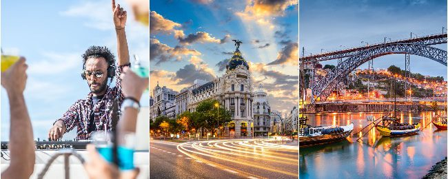 PEAK SUMMER: Ibiza, Madrid and Porto in one trip from UK for £87!