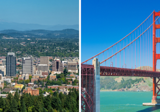 Non-stop between Portland and San Francisco for only $83!