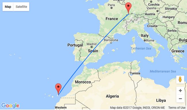 Last minute Basel to Fuerteventura Canary Islands for only 30