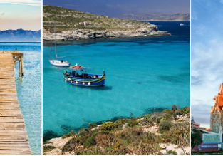 3 in 1: Mallorca, Barcelona and Malta from Germany for just €108!