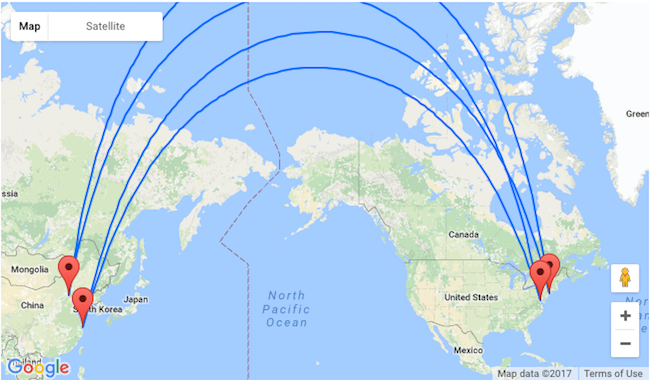 Beijing Or Shanghai To New York Or Washington For Only 499