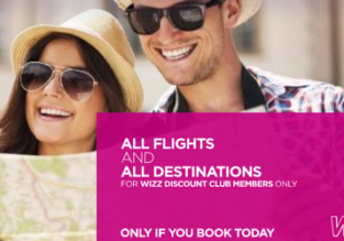 SUMMER: 20% off for Wizz Air Discount Club members!