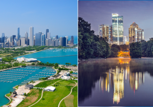 Cheap flights between Atlanta and Chicago for just $75!