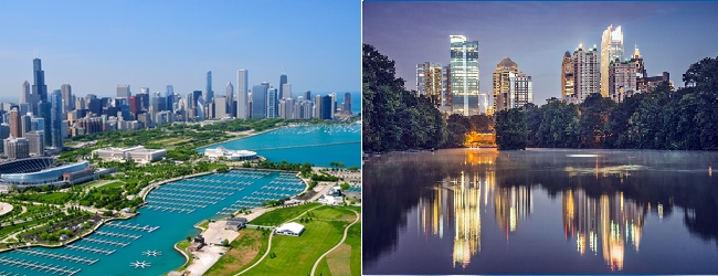 SUMMER: Non-stop from Chicago to Atlanta, Minneapolis, Washington and Denver and vice versa from just $69!