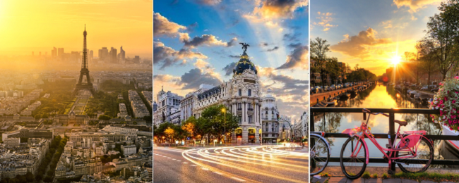 SUMMER: Dallas to Amsterdam, Madrid or Paris from just $404!