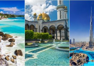 Bali, Brunei and Dubai in one trip from London for only £506!
